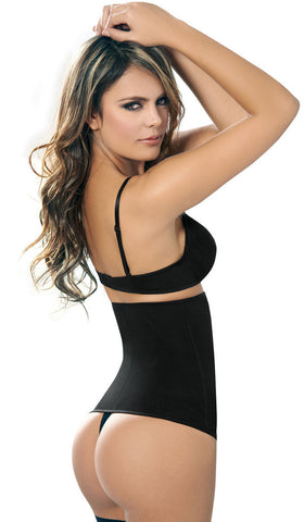 BLACK ZIP & CLIP SHAPER - AC1024 - Waist Trainer UK