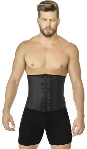MENS CLASSIC BLACK LATEX WAIST CINCHER - AC2031 - Waist Trainer UK