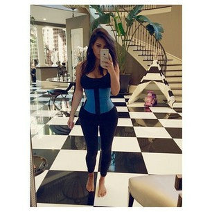BLUE WORKOUT WAIST TRAINER - AC2026 - Waist Trainer UK