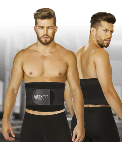 MENS LATEX FIT WAIST TRIMMER BELT - AC2051