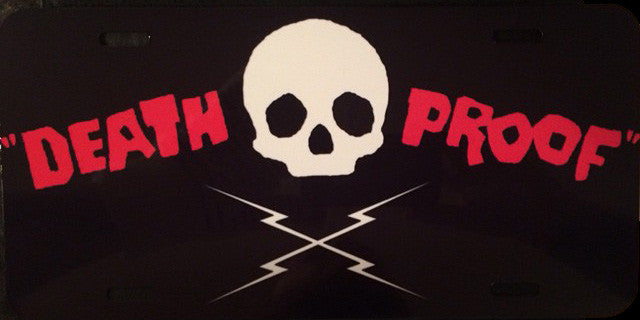Death Proof Vanity License Plate