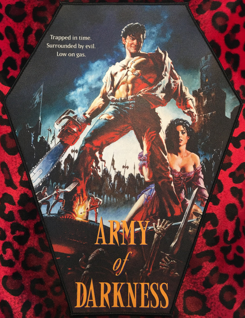 Army of Darkness Coffin Shaped Back Patch