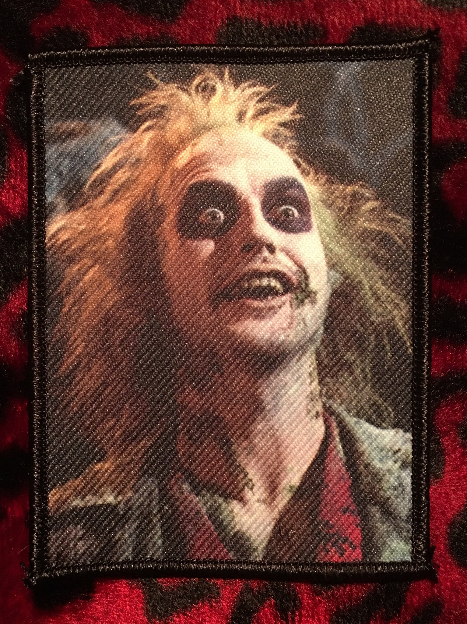 Beetlejuice Face Patch