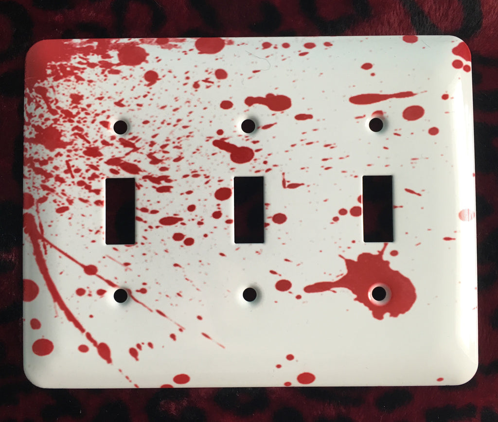 Blood Splatter Triple Light Switch Cover