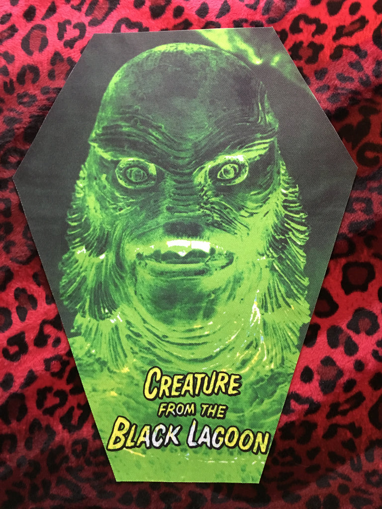 Creature From The Black Lagoon Coffin Shaped Back Patch