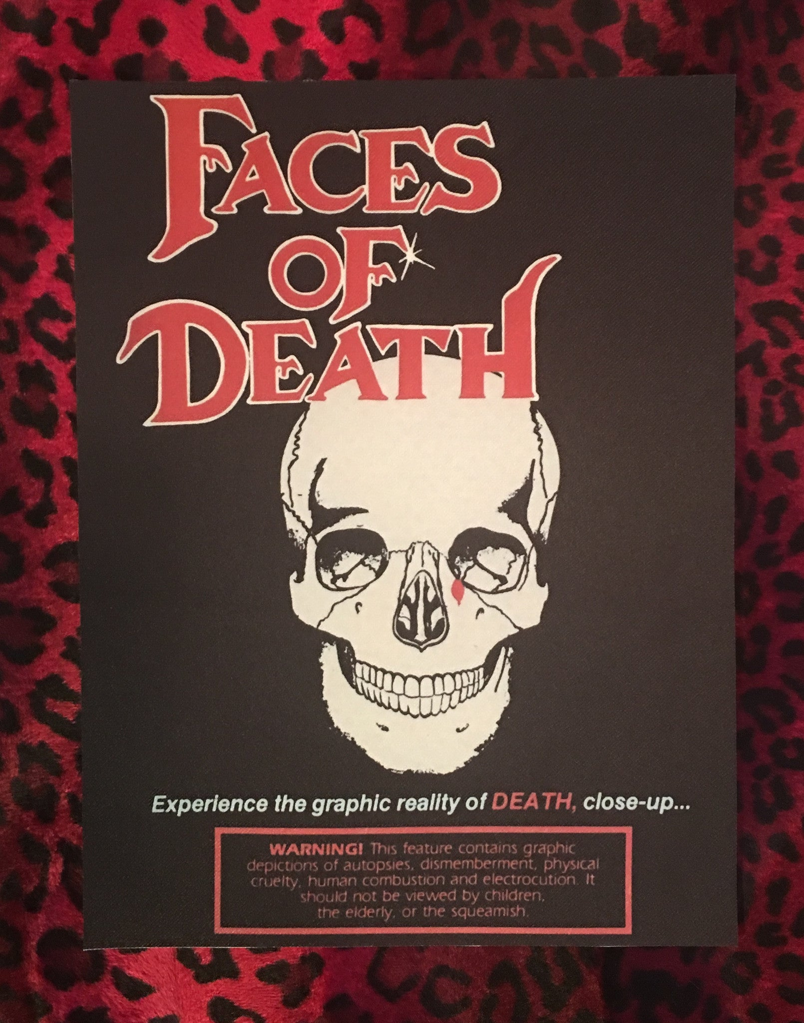 Faces of Death Back Patch