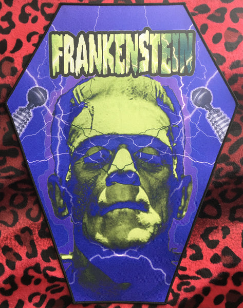 Frankenstein Coffin Shaped Back Patch Scream For Me Inc