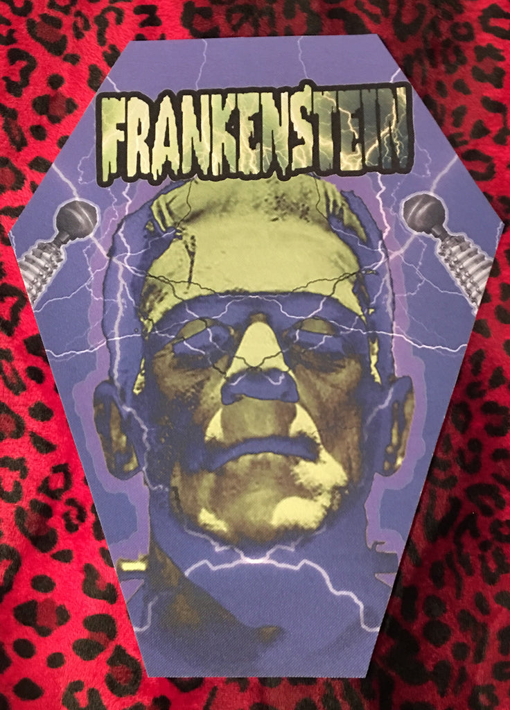 Frankenstein Coffin Shaped Back Patch