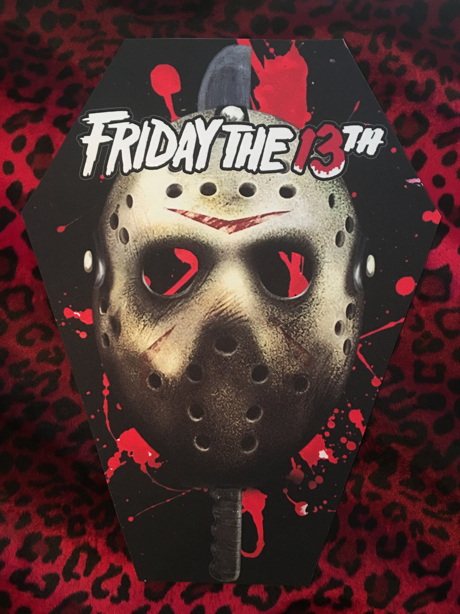 Friday the 13th Coffin Shaped Back Patch