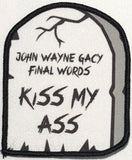 Kiss My Ass Small Gravestone Patch