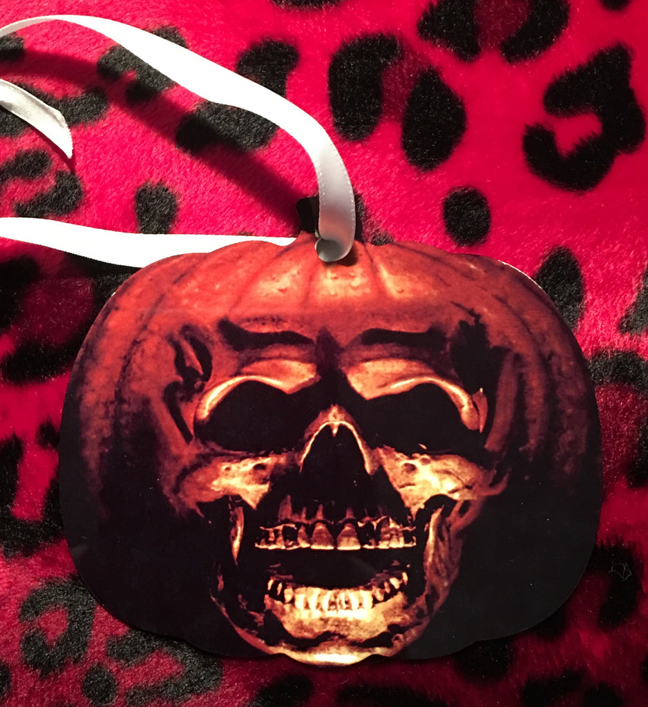 Halloween 2 Pumpkin Skull Christmas Ornament