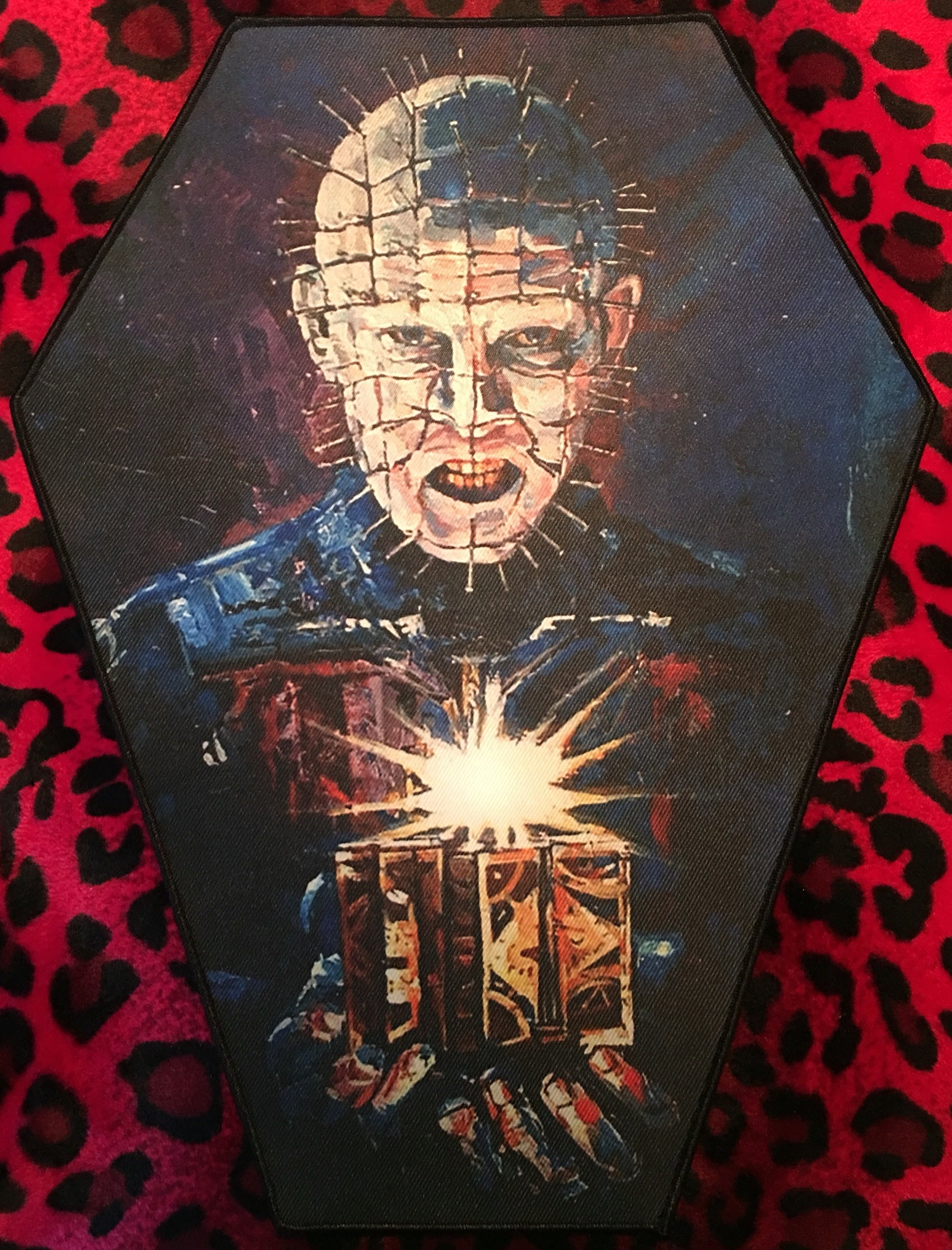 Hellraiser Pinhead Coffin Shaped Back Patch