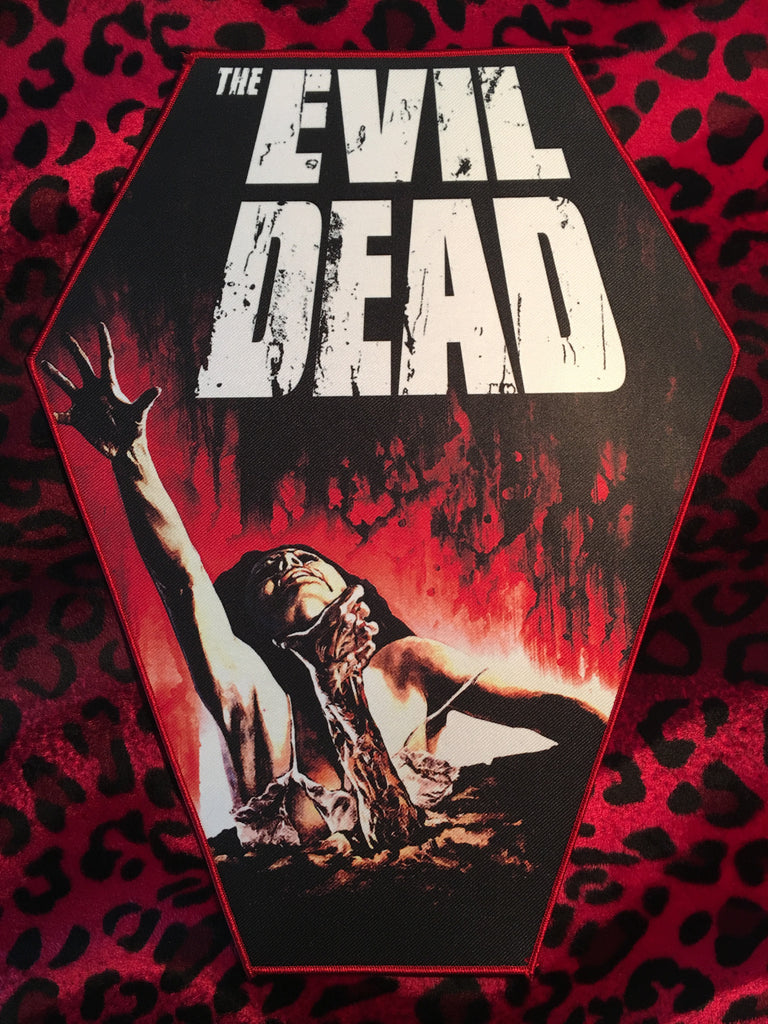 Evil Dead Style B Coffin Shaped Back Patch
