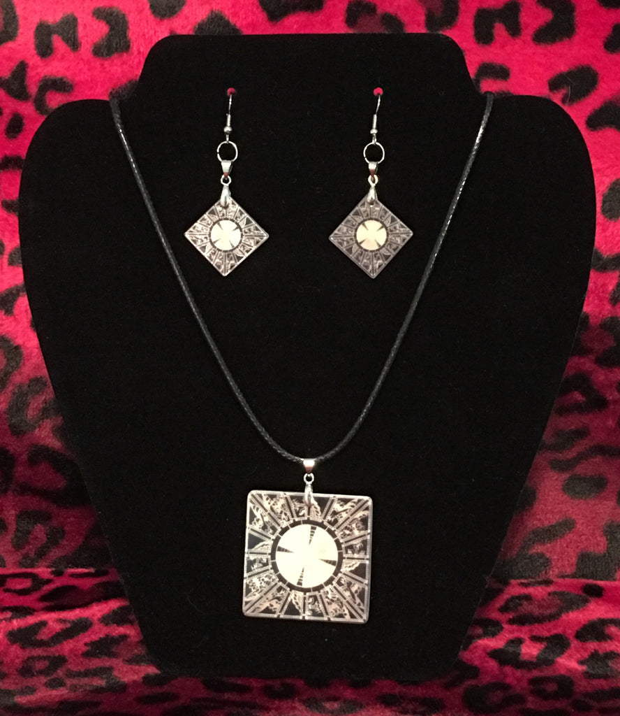 Set of Lament Configuration Mother of Pearl Earrings and Necklace