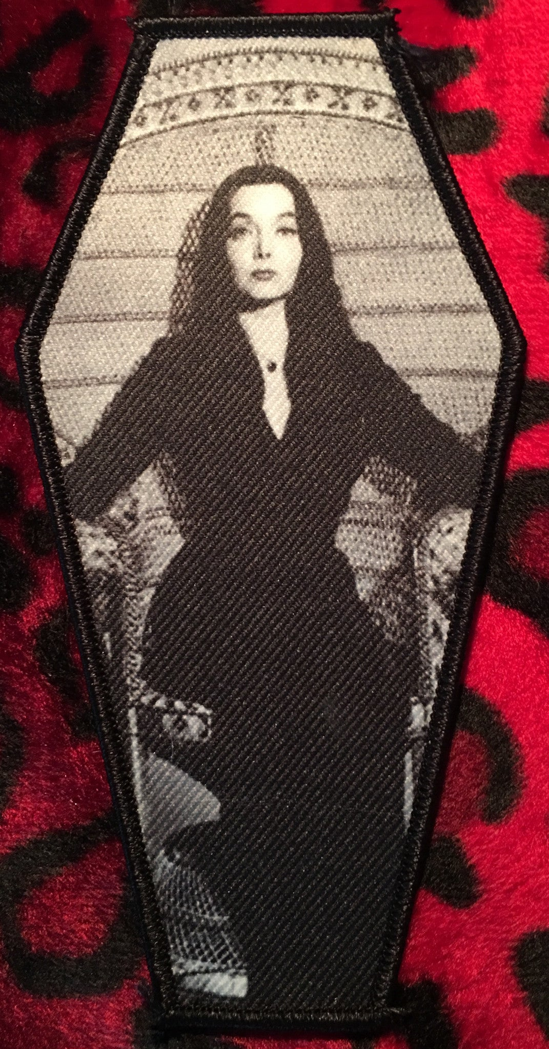 Morticia Addams Coffin Patch