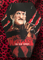 A Nightmare on Elm Street Coffin Shaped Back Patch