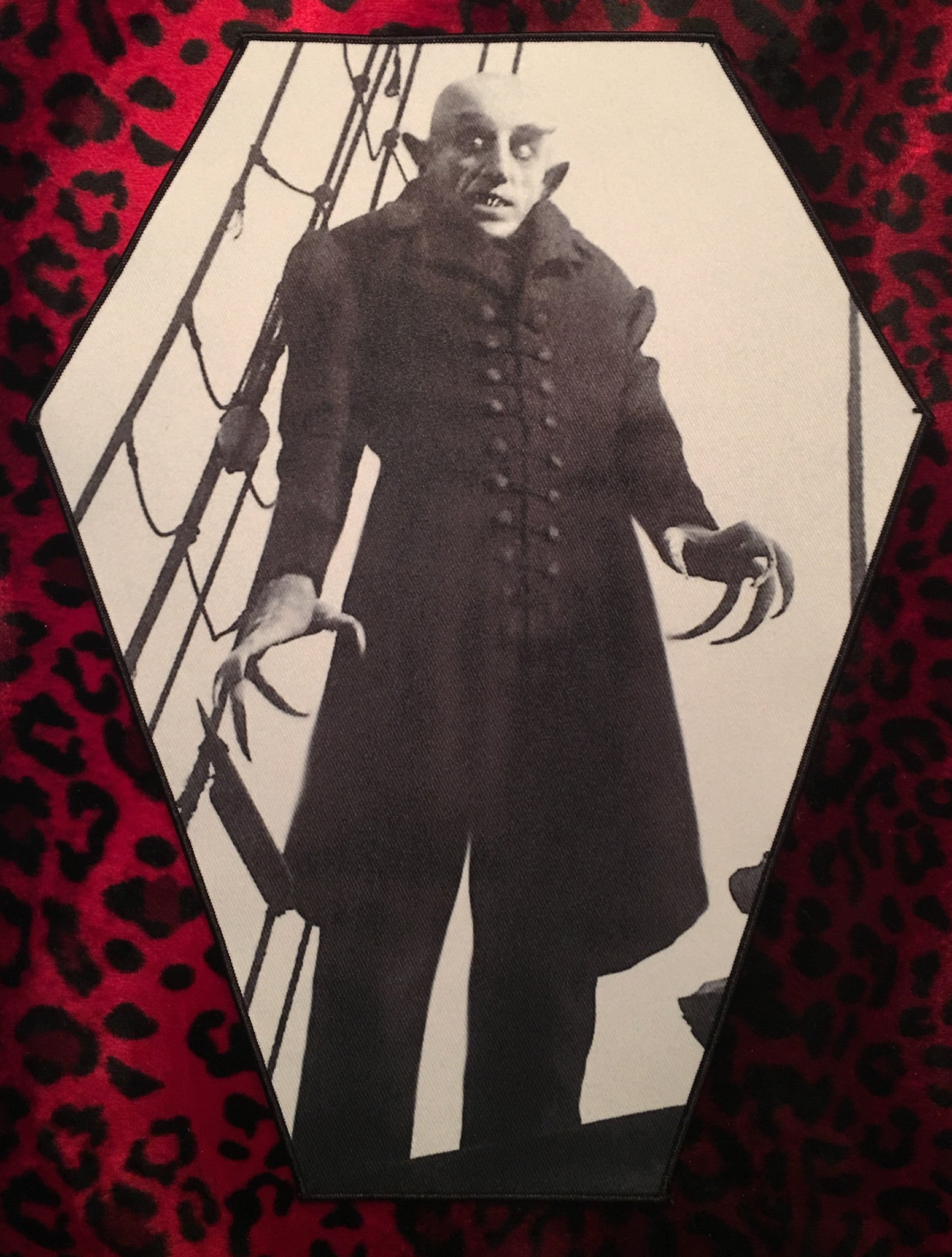 Nosferatu Coffin Shaped Back Patch