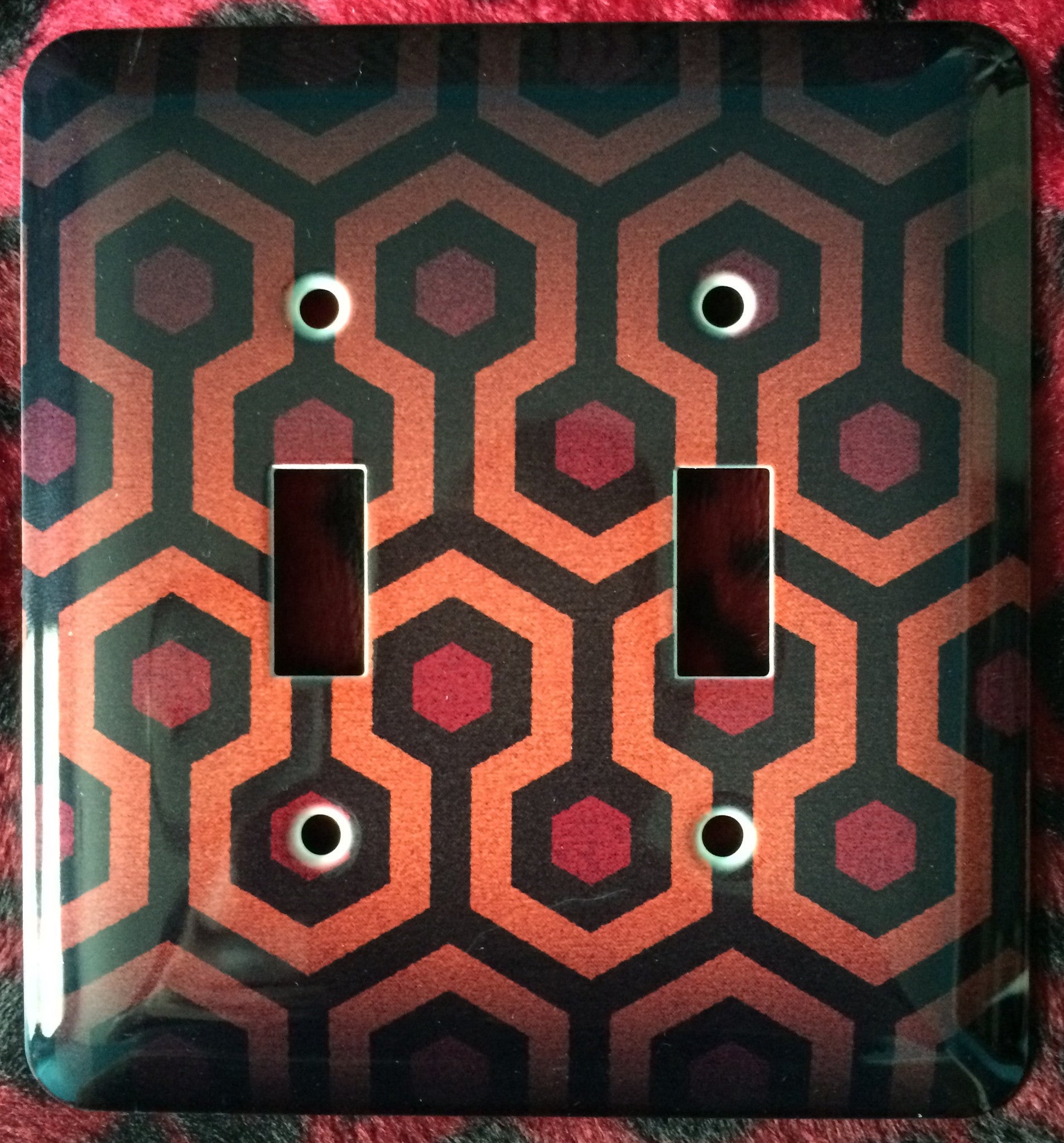 The Shining Overlook Hotel Double Light Switch Cover