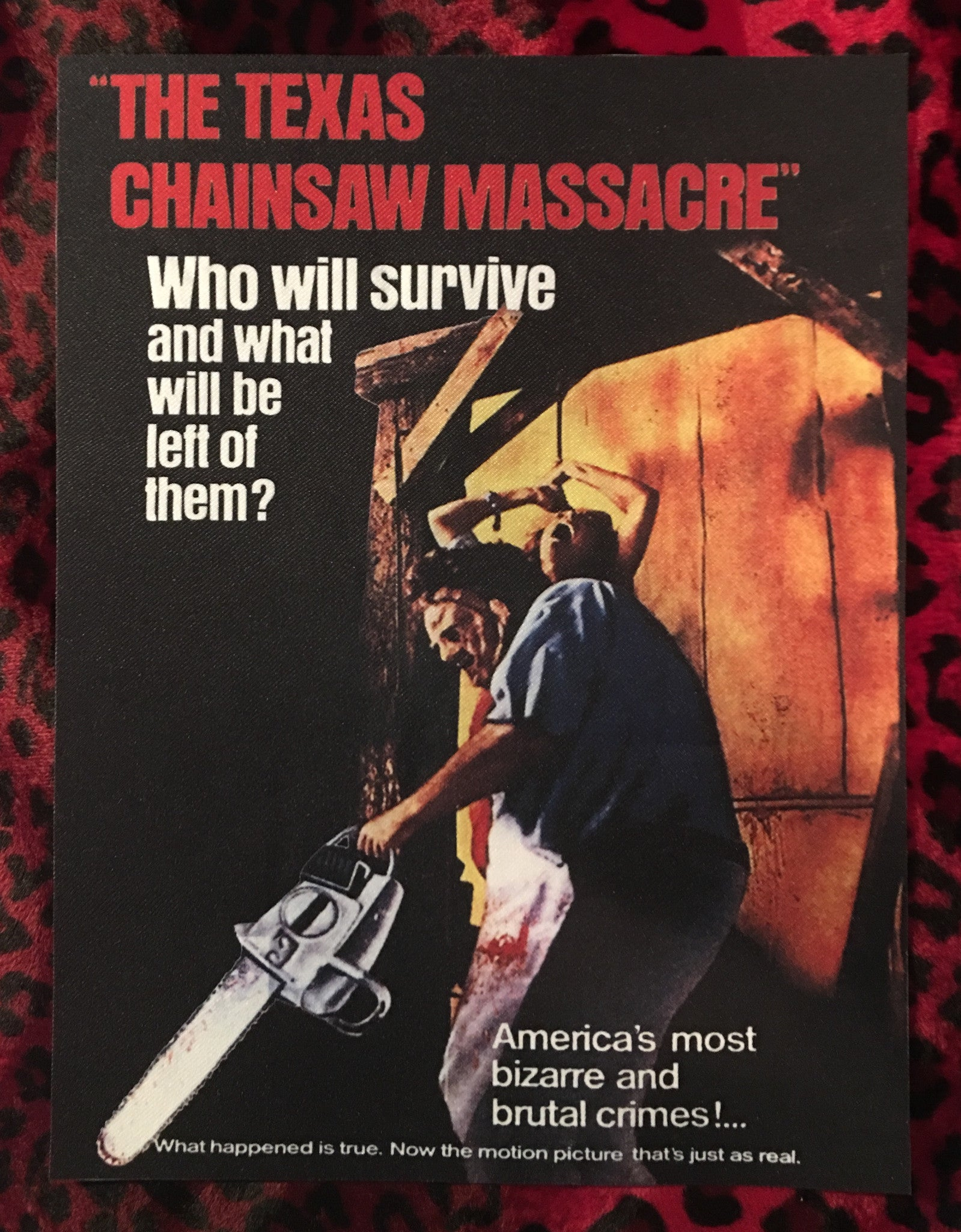 Texas Chainsaw Massacre Back Patch