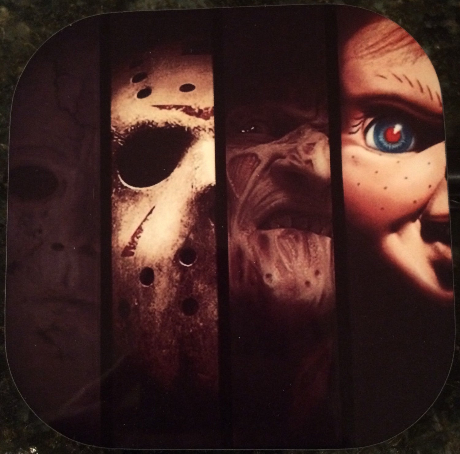 Slasher Horror Coasters (Set of 4)