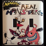 Aaahh!!! Real Monsters Double Light Switch Cover