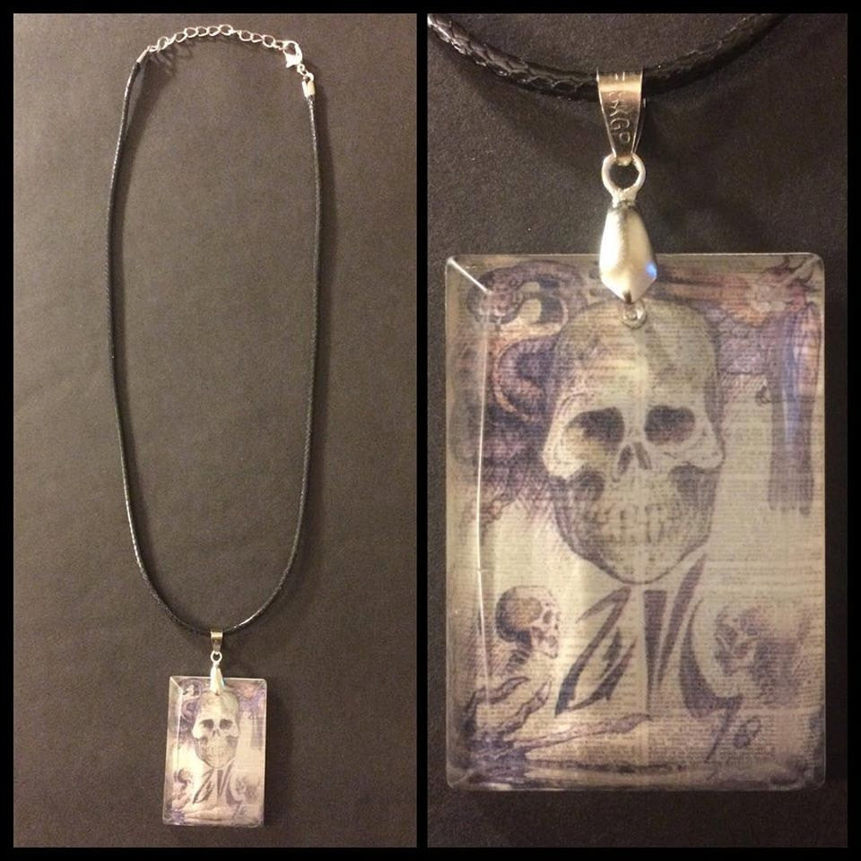 Necronomicon Page Crystal Necklace