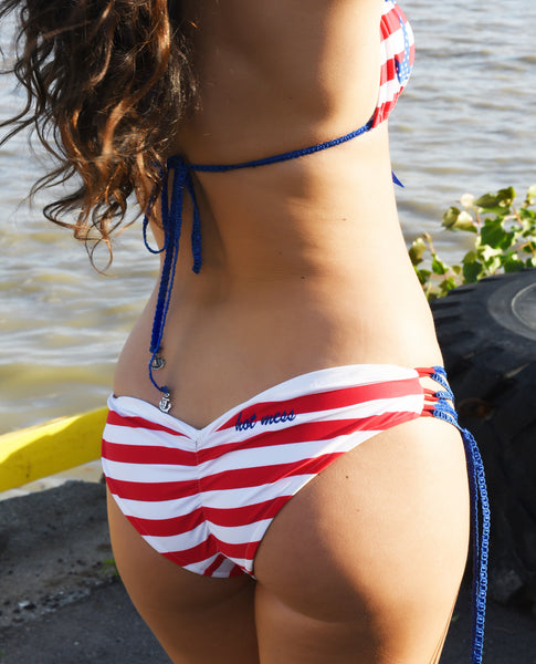 Triangle Anchor/Stripe Bikini