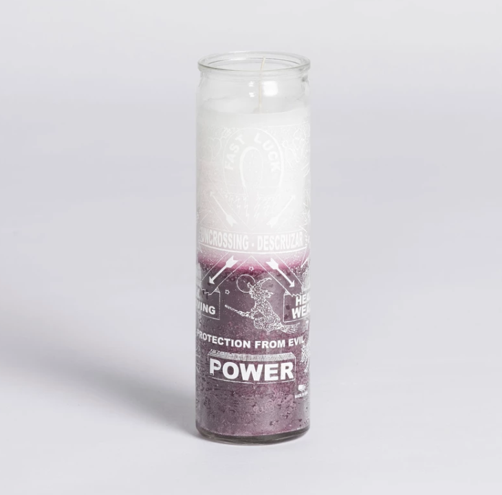 Uncrossing Candle - Purple/White
