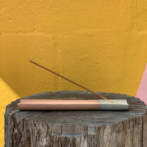 Peach Glaze Incense Holder
