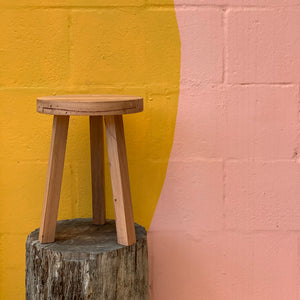 Reclaimed Timber Plant Stool - Small