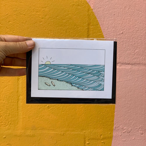 Chase The Waves Greeting Card