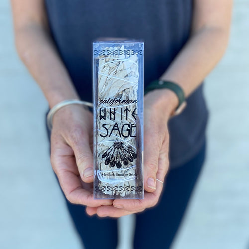 15cm Californian White Sage Smudge Stick - Packaged