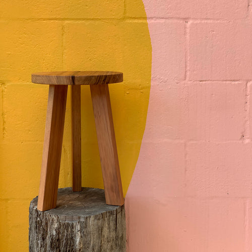 Reclaimed Timber Plant Stool - Small / Tall