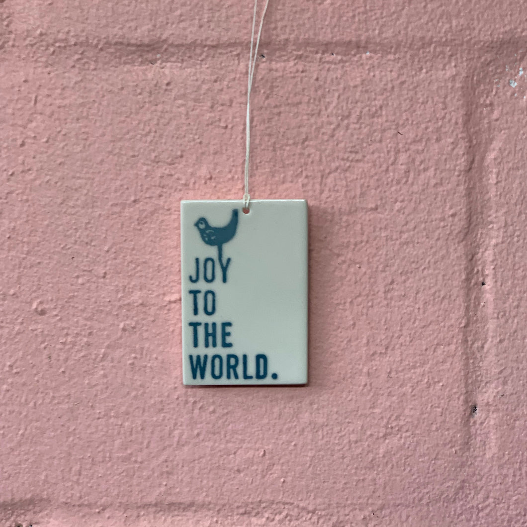 Joy - Porcelain Tag