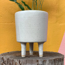 Load image into Gallery viewer, White Leggy Planter