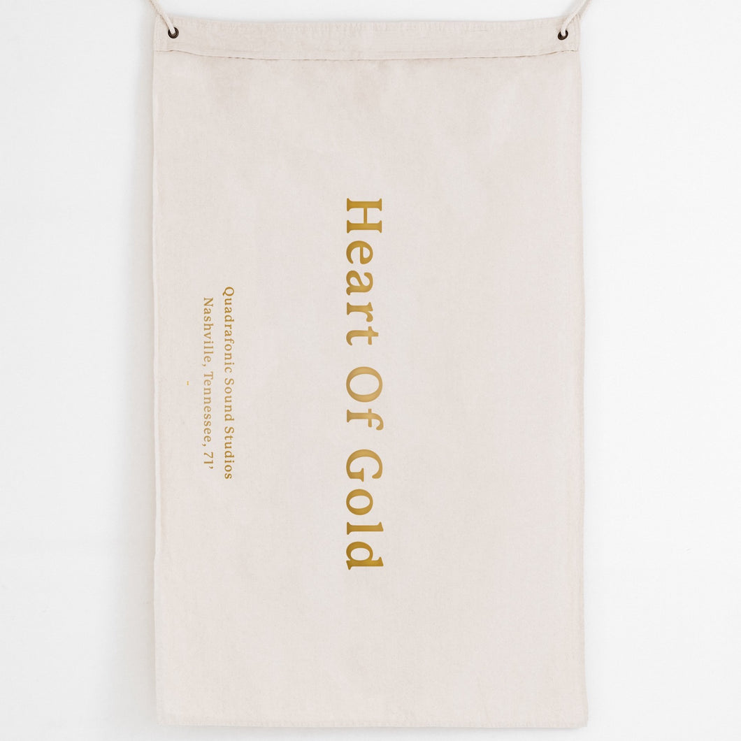 'Heart Of Gold' Canvas Flag - Large