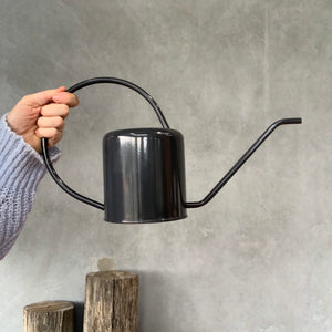 Flora Watering Can - Charcoal