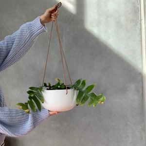 Cade Hanging Pot - Large - Soft White
