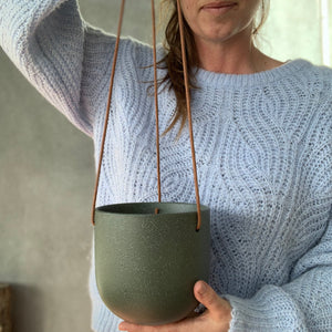 Cade Hanging Pot - Small - Cypress