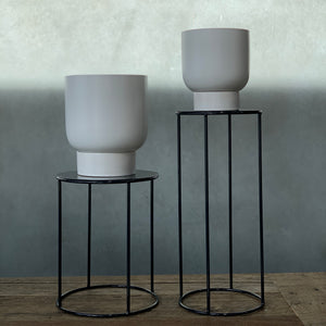 Lotus Pot Stand - Tall Black