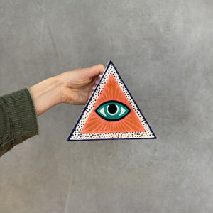 Triangular Eye Wall Hanging