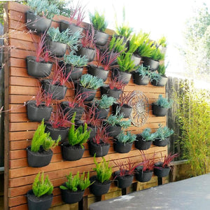 Charcoal Living Wall Planter