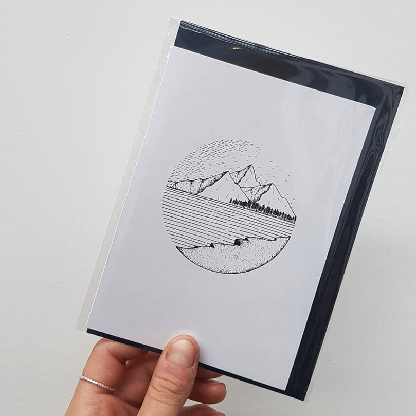 Mountains & Pines Greeting Card