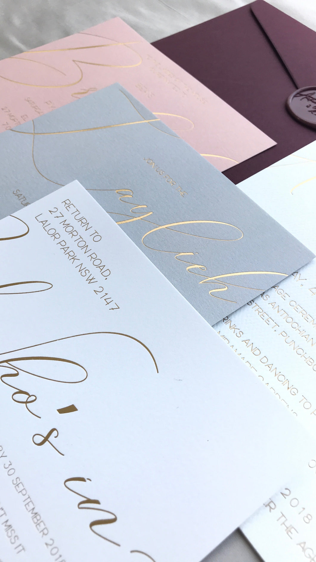 BERTHA | Natalie By Design | Wedding invitation