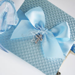 Blue Chanel Chrsitening invitation