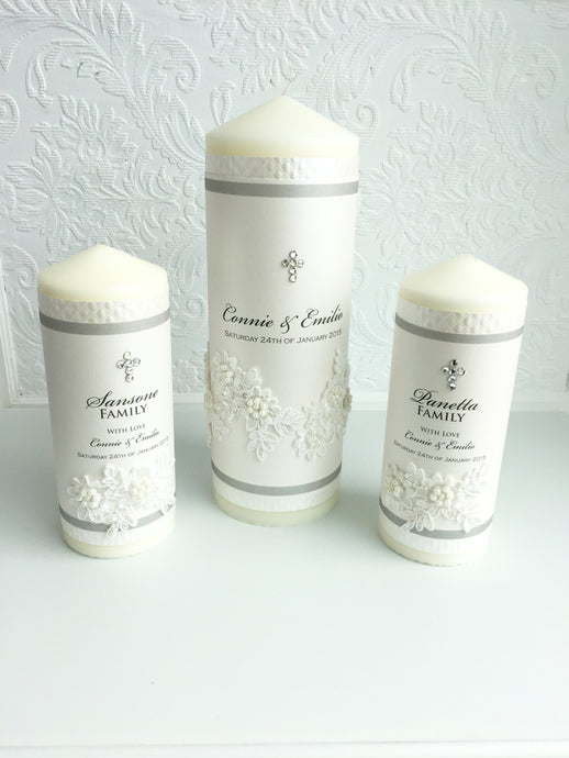 Connie Wedding Candle Set