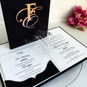 Deluxe Evelyn and Fred Invitation