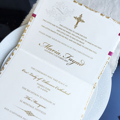 Fayad christening inside invitation