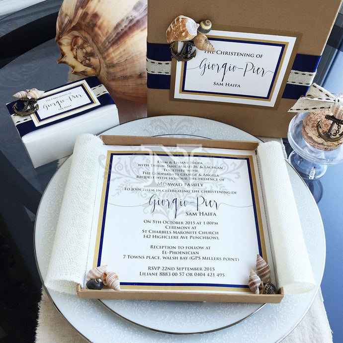 Giorgio nautical invitation set