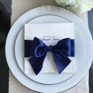 Joseph flocked navy invitation